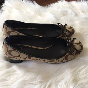 Coach shoes and monogram brown